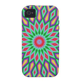Blue And Green Mandala Vibe iPhone 4 Case