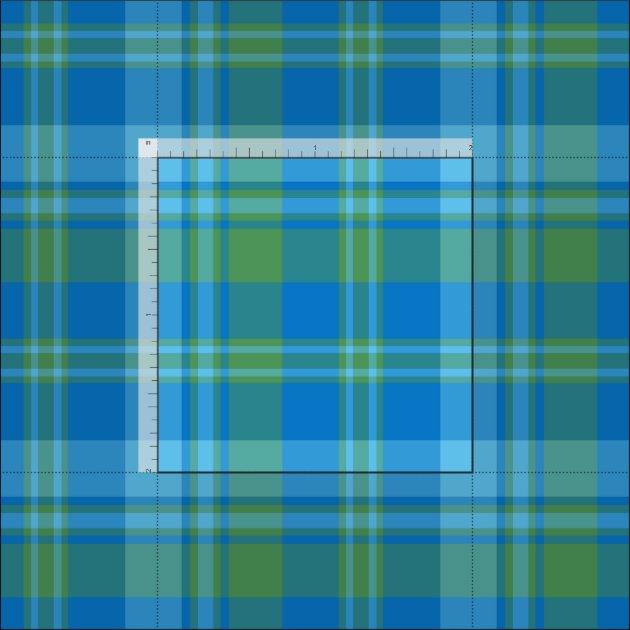 Blue and Green Morning Glory Plaid Pattern Fabric | Zazzle