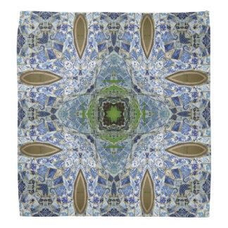 Blue and Green Mosaic Bandana