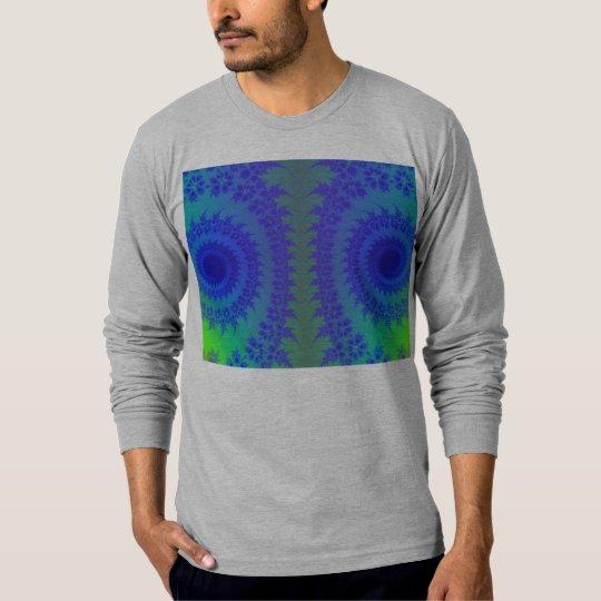 Blue and Green Neon Kaleidoscope Hippie Retro Art T-Shirt
