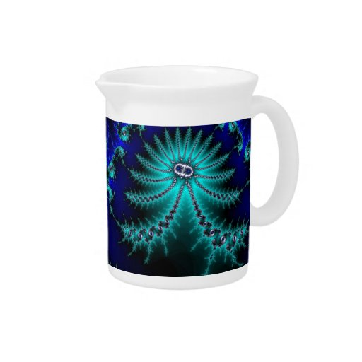 Blue and Green Octopus Fractal Pitcher