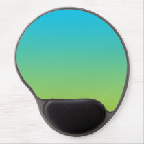"""Blue And Green Ombre"" Gel Mouse Pad"