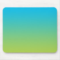 """Blue And Green Ombre"" Mouse Pad"