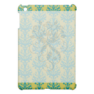 blue and green ornate damask fleur pern case for the iPad mini