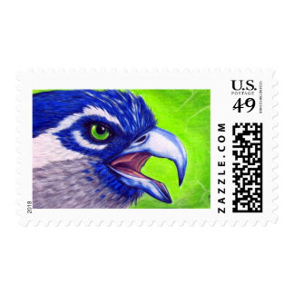 Blue and green Osprey Postage Stamp