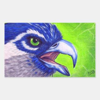 Blue and green Osprey Rectangular Sticker
