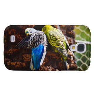 Blue and Green Parakeets, Bird Photography Galaxy S4 Cases