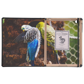 Blue and Green Parakeets, Bird Photography iPad Covers