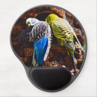 Blue and Green Parakeets, Bird Photography Gel Mouse Mats