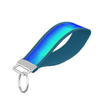 Blue and Green Patchwork Wrist Keychain