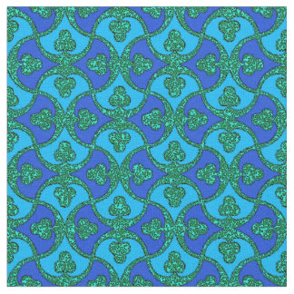 Blue and Green Pattern #1 Fabric