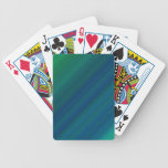 Blue and Green Pattern Bicycle Playing Cards