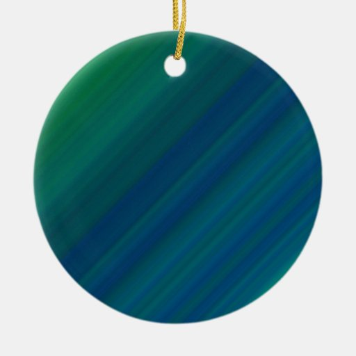 Blue and Green Pattern Christmas Ornament