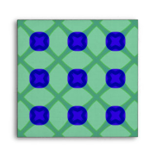 Blue and Green Pattern Envelope