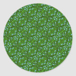 Blue and Green Pattern Stickers