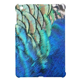 Blue And Green Peacock Feathers iPad Mini Cover