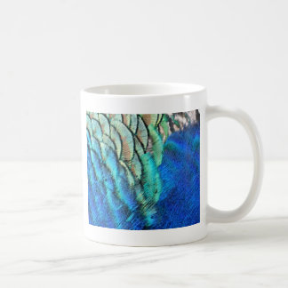 Blue And Green Peacock Feathers Classic White Coffee Mug