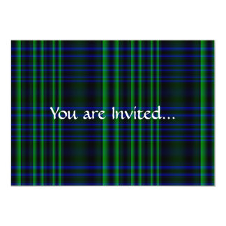 Blue and Green Plaid Checked Card