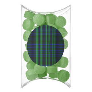 Blue and Green Plaid Checked Chewing Gum Favors