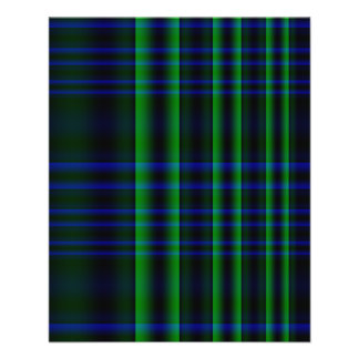 Blue and Green Plaid Checked Flyer
