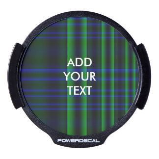 Blue and Green Plaid Checked LED Window Decal