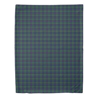 Blue And Green Plaid Clan Mackenzie Tartan Duvet Cover at Zazzle