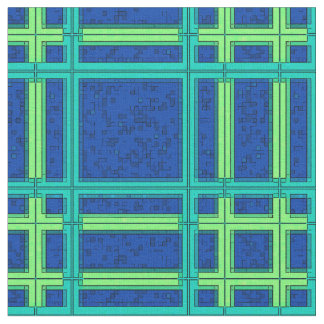 Blue and Green Plaid Fabric