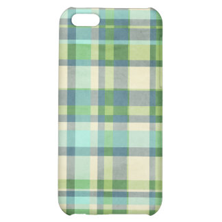 Blue and Green Plaid iPhone 5C Cover