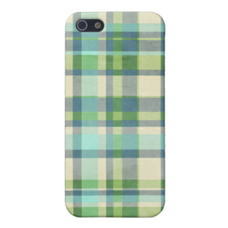 Blue and Green Plaid iPhone SE/5/5s Case