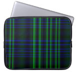 Blue and Green Plaid Laptop Sleeves