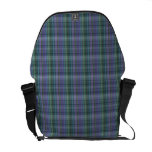Blue and Green Plaid Pattern Abstract Messenger Bag
