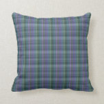 Blue and Green Plaid Pattern Abstract Pillows