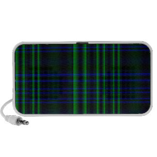 Blue and Green Plaid Travel Speakers