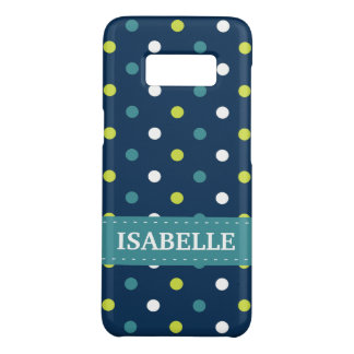 Blue and Green Polka Dot Case-Mate Samsung Galaxy S8 Case