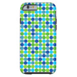 Blue and Green Polka Dot iPhone 6 case