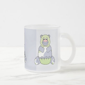 Blue And Green Polkadot Bear Mug