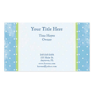 Blue and Green Polkadot Business Card