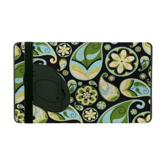 Blue and Green Retro Paisley iPad Case