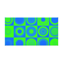 Blue And Green Retro Pattern Canvas Print