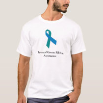 Blue and Green Ribbon Awareness Men's Shirt