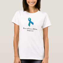 Blue and Green Ribbon Awareness Women's Shirt