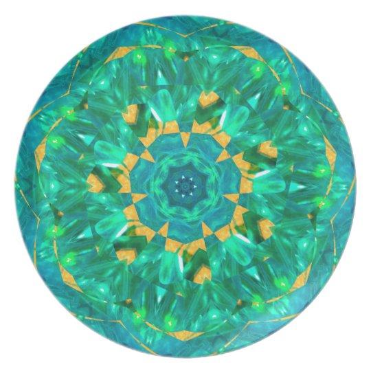 Blue and Green Ribbon Dec 2012 Melamine Plate