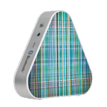 Blue and green rough stripes pattern speaker