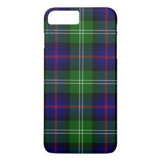 Blue and Green Scottish Clan Sutherland Tartan iPhone 8 Plus/7 Plus Case