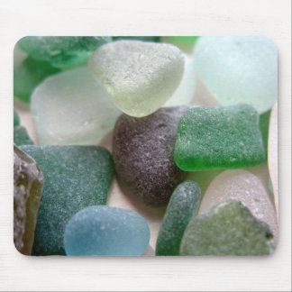 Blue and Green Sea Glass Mousepads