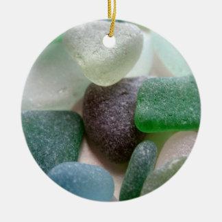 Blue and Green Sea Glass Ornament