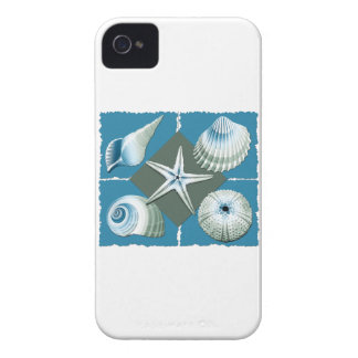 Blue and Green Sea Shells Case-Mate iPhone 4 Case