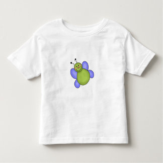 Blue and Green Smiling Bug Tee Shirt
