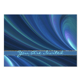 Blue And Green Soft Sand Waves 5x7 Paper Invitation Card