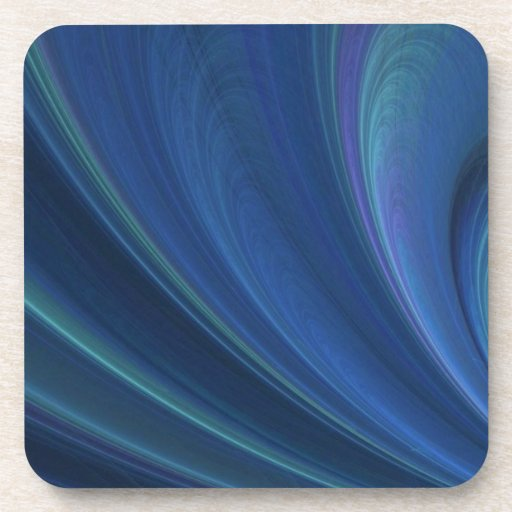 Blue And Green Soft Sand Waves Beverage Coaster